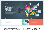 website template design. modern ... | Shutterstock .eps vector #1059171575