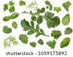 green fresh rucola leaves... | Shutterstock . vector #1059175892