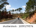 motorbike on the road in the... | Shutterstock . vector #1059179576