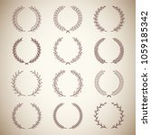 set of silhouette vintage... | Shutterstock .eps vector #1059185342