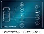 smart vehicle concept. car... | Shutterstock .eps vector #1059186548