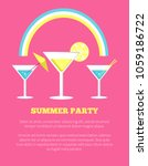 summer party poster with...   Shutterstock .eps vector #1059186722