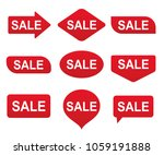 sale tag  label set. vector... | Shutterstock .eps vector #1059191888