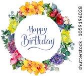 colorful bouquet. floral...   Shutterstock . vector #1059196028