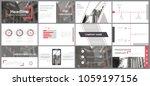 slides. modern presentation... | Shutterstock .eps vector #1059197156