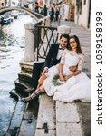 beautiful wedding couple in...   Shutterstock . vector #1059198398