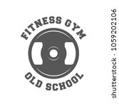 fitness gym. old school. retro... | Shutterstock .eps vector #1059202106