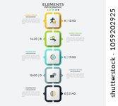 vertical timeline or schedule ... | Shutterstock .eps vector #1059202925