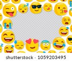 funny emojis. photo frame for... | Shutterstock .eps vector #1059203495