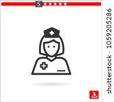 nurse vector icon | Shutterstock .eps vector #1059205286