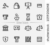 set of finance outline web... | Shutterstock . vector #1059206048