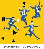 businessman in different... | Shutterstock .eps vector #1059209912