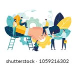 business concept vector... | Shutterstock .eps vector #1059216302
