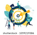 business concept vector... | Shutterstock .eps vector #1059219386