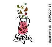hand sketched sangria recipe... | Shutterstock .eps vector #1059220415