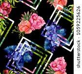 bouquet wildflower flower... | Shutterstock . vector #1059225626