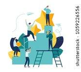 business concept vector... | Shutterstock .eps vector #1059226556