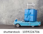 father's day concept. a toy car ...   Shutterstock . vector #1059226706