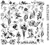 set of  vector floral elements | Shutterstock .eps vector #105922718