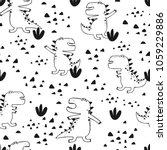 baby seamless pattern with hand ... | Shutterstock .eps vector #1059229886