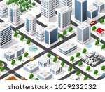 urban area of the city | Shutterstock . vector #1059232532