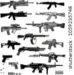 Modern  Guns  Automatic Weapon...