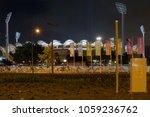 metricon stadium lights up at... | Shutterstock . vector #1059236762