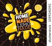 home made lemonade typographic... | Shutterstock .eps vector #1059240392
