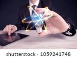 a classy businessman holding a... | Shutterstock . vector #1059241748
