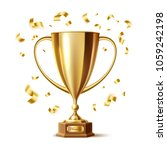 golden trophy  gold cup award.... | Shutterstock .eps vector #1059242198