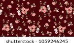 seamless floral pattern in... | Shutterstock .eps vector #1059246245