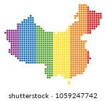 a dotted lgbt china map for... | Shutterstock . vector #1059247742