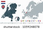 netherlands map and netherlands ... | Shutterstock .eps vector #1059248078