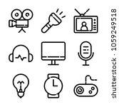 essentials icon set | Shutterstock .eps vector #1059249518