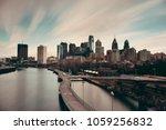 philadelphia skyline with urban ... | Shutterstock . vector #1059256832