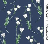dark blue seamless pattern... | Shutterstock . vector #1059258002