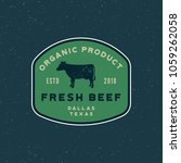 premium fresh beef label. retro ... | Shutterstock .eps vector #1059262058