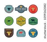 set of premium fresh beef... | Shutterstock .eps vector #1059262082