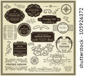 Set Of Design Elements  Labels...