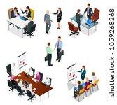 isometric business people... | Shutterstock .eps vector #1059268268