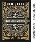 liquor label with design... | Shutterstock .eps vector #1059287906
