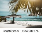true tilt shift shot of the row ... | Shutterstock . vector #1059289676