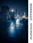 foggy industrial urban street... | Shutterstock . vector #1059306008
