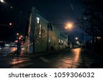 dark city street corner and... | Shutterstock . vector #1059306032