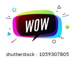 wow banner  speech bubble ... | Shutterstock .eps vector #1059307805