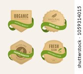 organic natural label and tag... | Shutterstock .eps vector #1059314015