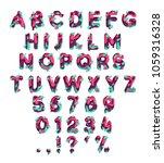 paper cut letter. fluid... | Shutterstock .eps vector #1059316328