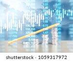 coin stacks   business money... | Shutterstock . vector #1059317972