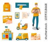postal fast free service... | Shutterstock .eps vector #1059318668