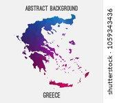 greece map in geometric... | Shutterstock .eps vector #1059343436